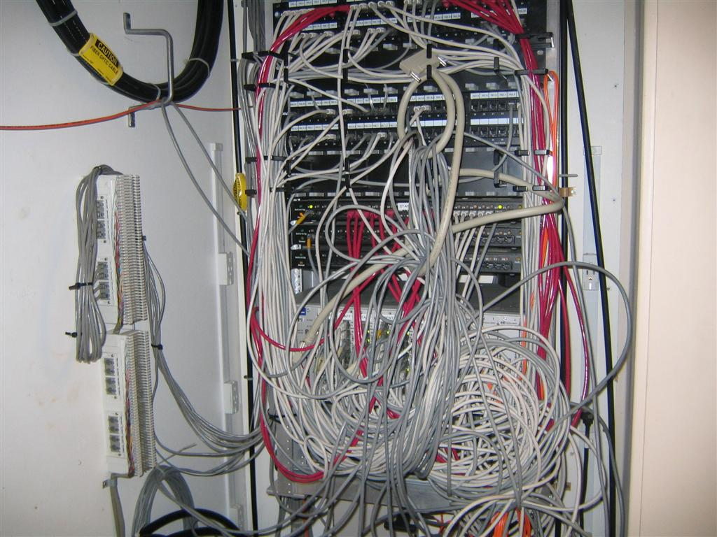 Post Your It Infrastructure Thread Tweak3d Wiring Closet Mess Our Main Distribution Facility That Connected To Each Of The Switches And Us District Office